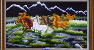 tranh thêu 8 con ngựa