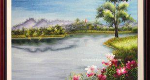 tranh thêu phong cảnh