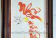 tranh thêu thư pháp chữ nhẫn